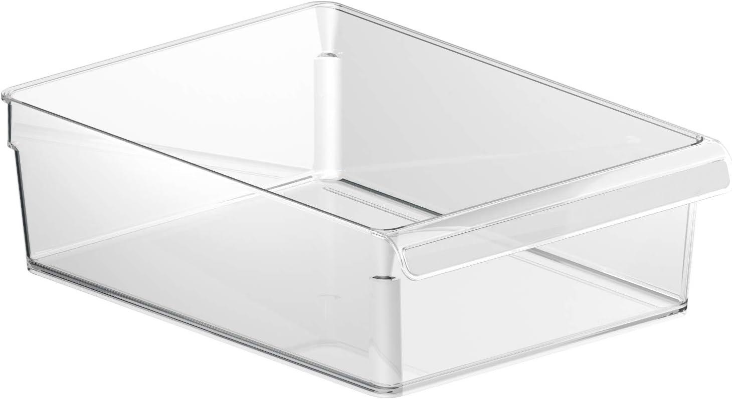 Rotho Loft, Organizador de la nevera 5l, Plástico SAN libre de BPA, transparente, L, 5l 31.0 x 22.0 x 9.0 cm