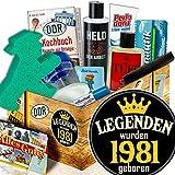 Geschenk für Mann zum Geburtstag / Männer DDR Pflegebox / Legenden 1981