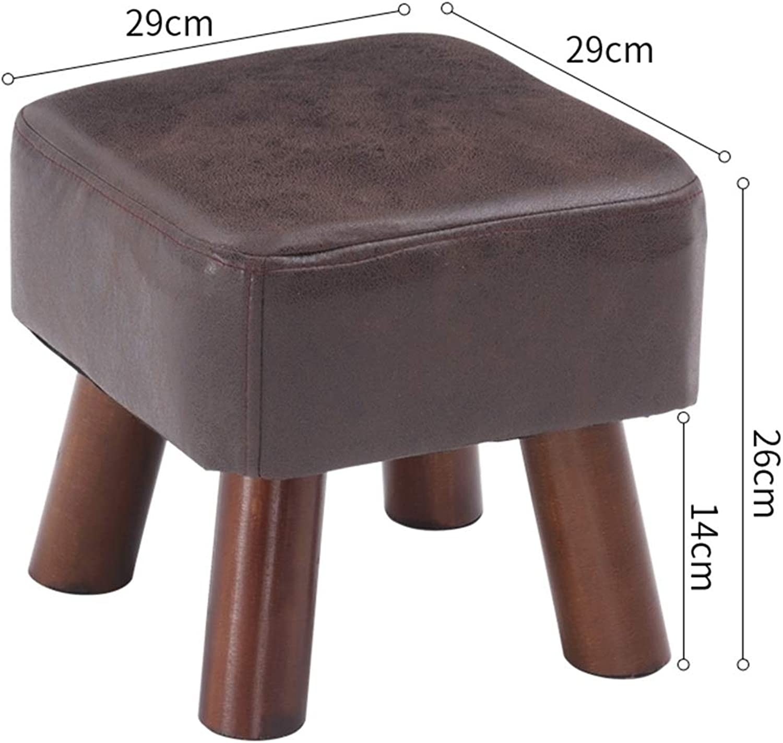 JIANFEI Footstool PU Soft Cushion Non-Slip Mat Bedroom Corridor, 9 Sizes (color   Brown, Size   29x29x26cm)