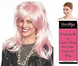 Jem Holograms color PINK - Enigma Wigs Jemmi Rock Star Benton Peeples Animation Britta Bundle w/Cap, MaxWigs Costume Wig Care Guide