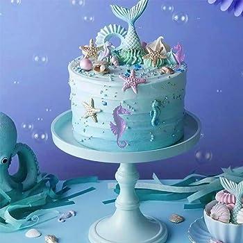 Fondant Sea Shells and Large Wave Heart  Cake Toppers  Gumpaste sea shells  Edible sea shells  Sugar shells  Sea shells  Beach wedding cake