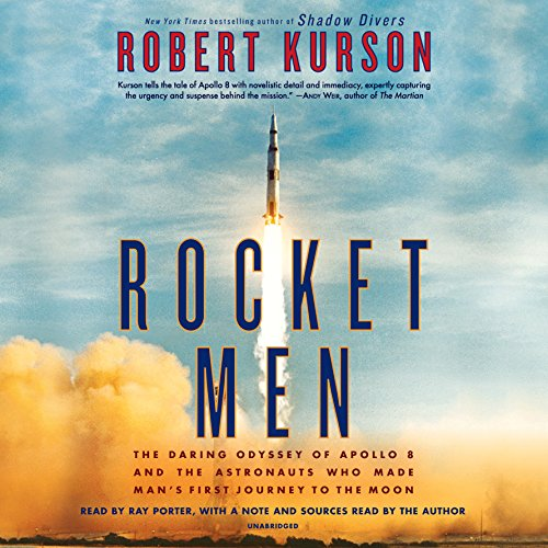 Rocket Men     The Daring Odyssey of Apollo 8 and the Astronauts Who Made Man's First Journey to the Moon              Auteur(s):                                                                                                                                 Robert Kurson                               Narrateur(s):                                                                                                                                 Ray Porter,                                                                                        Robert Kurson                      Durée: 12 h et 20 min     20 évaluations     Au global 4,8