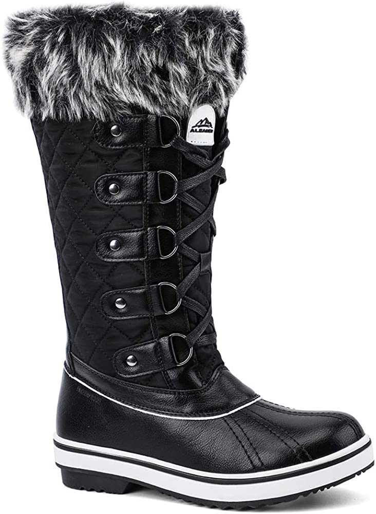 ALEADER Womens Cold Weather Winter Boots, Waterproof Snow Boots, Fashion Booties, All-day Comfort, Warm