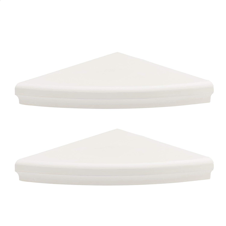 Amazon Basics Rounded Corner Shelves - 17-Inch, White, 2-Pack