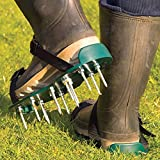 Deluxe Lawn Aerator Sandals Spiked Shoes 26 Spikes Secure Strap
