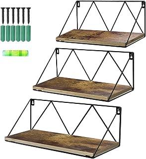 UMI. by Amazon Estantes de Metal con Montaje en la Pared para Salas de Estar cocinas u oficinas Juego de 3