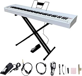 LES AILES DE LA VOIX 88 Weighted Key Digital Piano Electric Piano Portable Piano for Beginner Adults with Weighted Keys, X...