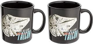 Vandor Star Wars - Millennium Falcon Heat Reactive - Set of 2 Ceramic Coffee Mugs - 20 ounce