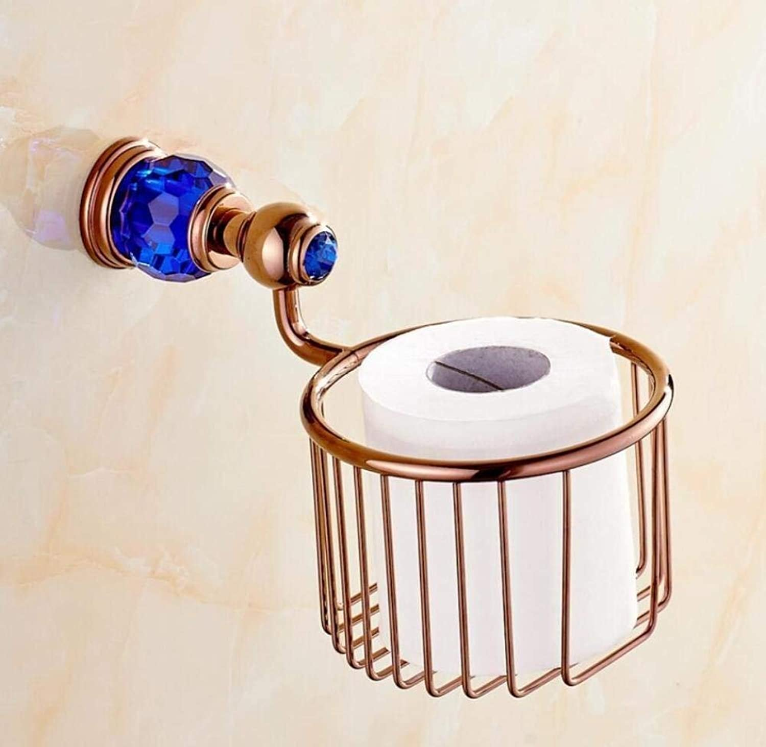 Paper Towels Copper Crystal Shopping Cart Door-Paper, Toilet Paper European-Style Bathroom Cylinder-Paper Door Door-Roll Paper Towels Modern Pendant,B,9  13cm