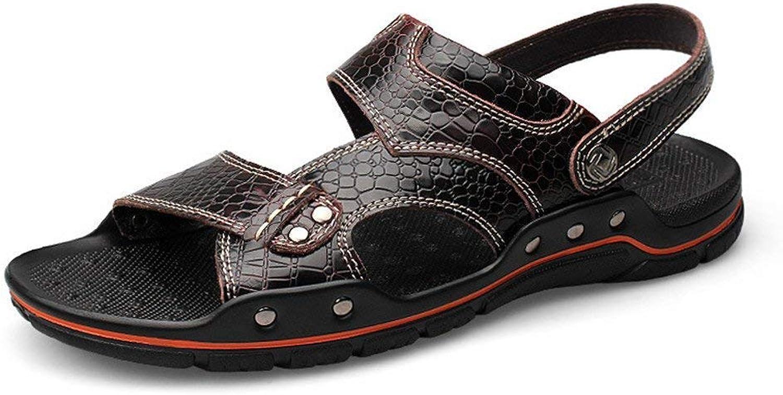 Fuxitoggo 2018 Sandals Men's Sports Sandals Summer Outdoor Walking shoes (color   Wine, Size   45 EU)