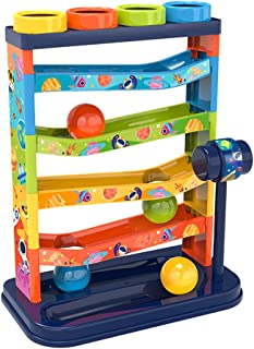LuDa 5 Layer Ball Drop Roll Swirling Tower Run with Swirling Ramps & 4 Balls Children Baby Development Educational Toys To...