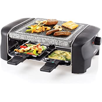 Princess 162810 Raclette 4 Stone Grill Party, 600 W, Pietra ollare