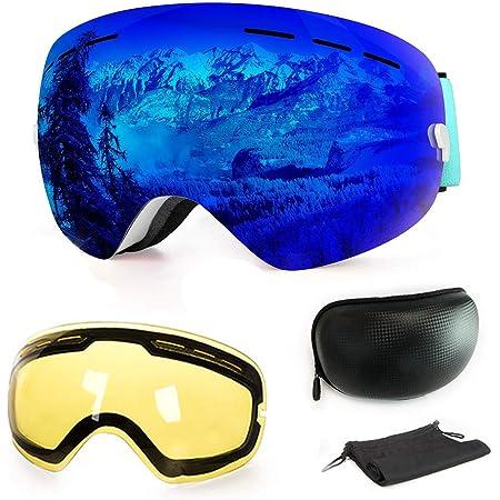 Skibrille Snowboardbrille Schneebrillen Herren Damen UVBrille für Brillenträger