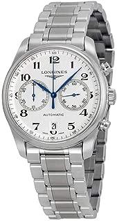Longines 大師計時自動銀色表盤不銹鋼男式手表 L2.629.4.78.6