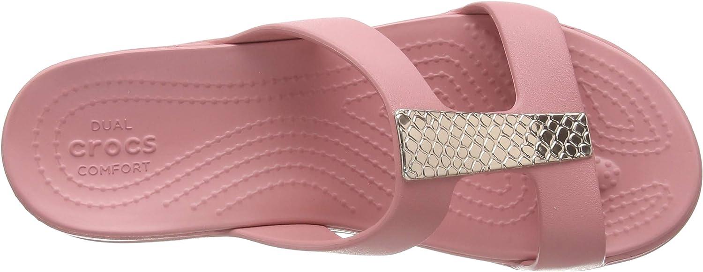 Crocs Damen Monterey Metallic Wedge Sandalen