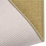 casa pura Sisal Teppich Läufer | Natur | Naturfaser | Qualitätsprodukt aus Deutschland | kombinierbar mit Stufenmatten | 19 Breiten und 18 Längen (60x80 cm) - 5