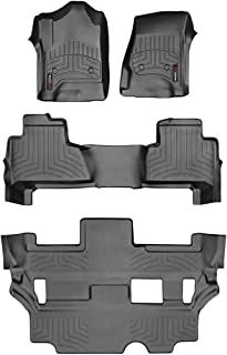 WeatherTech Custom Fit FloorLiner for Tahoe/Yukon - 1st, 2nd, 3rd Row (Black)