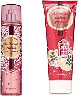 Bath and Body Works CHRISTMAS COOKIES fragrance mist and body cream NEW 2019