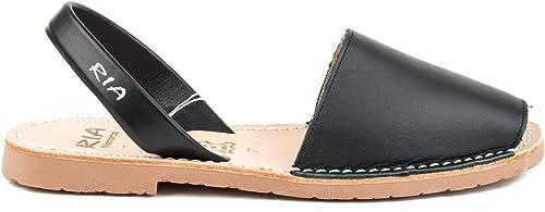 Ria Menorca zapatos Sandalo mujer 20002-S2 Box Calf negro