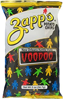 Zapp's New Orleans Kettle-Style Potato Chips, Voodoo Flavor – Crunchy Chips with a Spicy Kick, Great for Lunches or Snacking on the Go, 2 oz. Bag (Pack of 25)