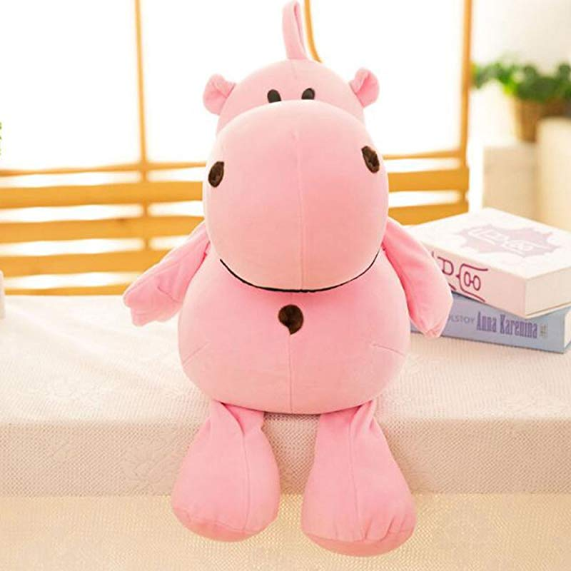 Dongcrystal 17 7 Inches Hippo Soft Plush Toy Stuffed Animal Pillow Pink
