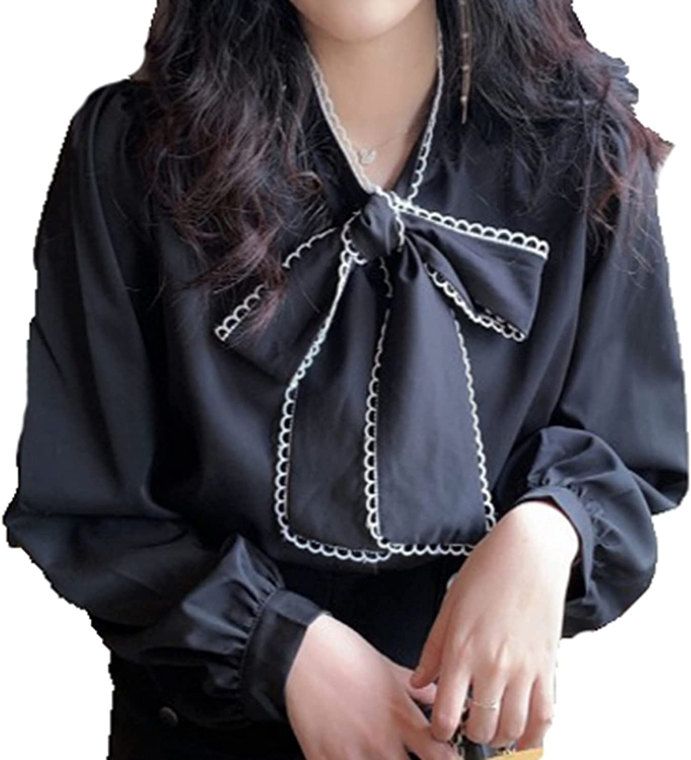 Finally resale start FYHYUS Ladies Blouse Anti-Pilling with Career excellence Basic Office H Tie