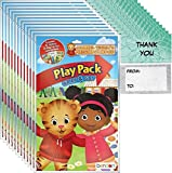 Daniel Tiger's Neighborhood Grab n Go Play Packs Party Favor Bundle (12 Packs) and 12 'Thank you' Cards