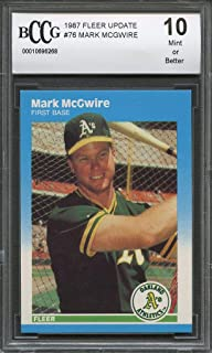 1987 fleer update #76 MARK MCGWIRE oakland athletics rookie card BGS BCCG 10 Graded Card