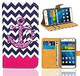 Huawei Ascend G7 Handy Tasche, FoneExpert® Wallet Hülle Flip Cover Hüllen Etui Ledertasche Lederhülle Premium Schutzhülle für Huawei Ascend G7 (Pattern 11)