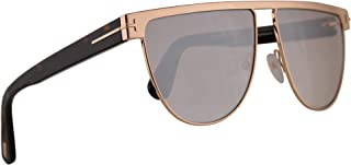 FT0570 Stephanie-02 Sunglasses Shiny Rose Gold w/Brown Mirror Lens 60mm 28G FT570 TF 570 TF570