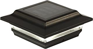 Classy Caps SL211B 4X4 Black Aluminum Imperial Solar Post Cap, 4