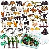 【3 in 1 Modello Animali】 - Contiene tre tipi di animali: dinosauri, animali giungla e animali da fattoria. I dinosauri includono Tyrannosaurus, Triceratops, Diplodocus, ecc. Animali della giungla includono leoni, panda, bisonti, ecc . Animali della f...