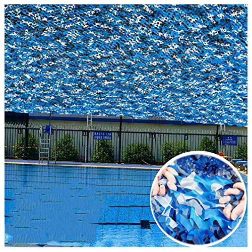 Red Camuflaje Malla Camuflaje Lona Azul Sombras Velas Telas Visera Parasol Toldos Aislantes Marquesinas Brisa Brisa Visera Parasol for jardín Patio Caza del ejército Tiro Oculto 5m 8m 10m 12m