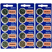 15 Genuine Sony CR2032 3v Lithium 2032 Coin Batteries Freshly Packed by Sony