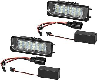 ECD Germany 2 x LED Kennzeichenbeleuchtung mit E Prüfzeichen   6000K Xenon Weiß   Canbus   Plug & Play   Fehlerfrei   LED Kennzeichenleuchte mit Zulassung Nummernschildbeleuchtung
