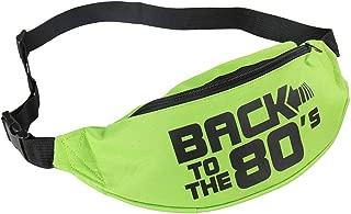 Smile fish Neon Green Fanny Packs Waist Bag for 80s Party Music Festivals,Women,Men