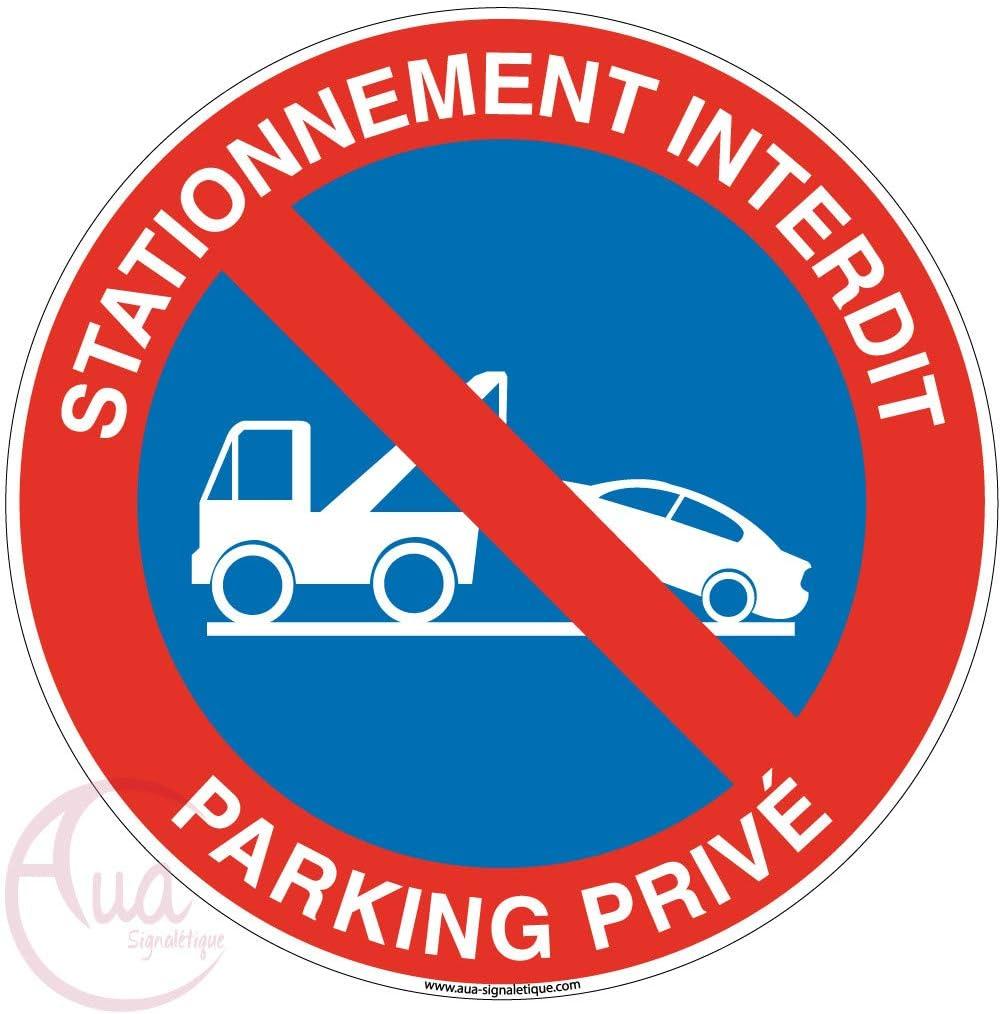 Panneau Parking r/éserv/é livraisons-B 160x60 mm Aluminium Dibond 3mm AUA SIGNALETIQUE