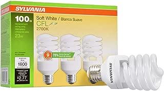 Sylvania 2700K CFL Soft White, 3 Pack