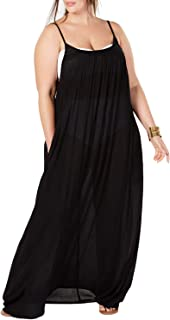 Womens Plus Size Maxi Cover Ups Beach Dresses Spaghetti Strap Backless Coverups Swimwear
