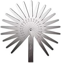 23 Blades Steel Feeler Gauge Dual Marked Metric and Imperial Gap Measuring Tool