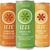 IZZE Sparkling Juice, 3 Flavor Variety Pack, 8.4 oz Cans, 12 Count