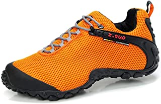 Hiking Boots Mens - Hiking Shoes Women Casual Shoes|Sneakers|Rubber Bottom|Mesh Breathable|Safety Protection|Yellow (Size ...