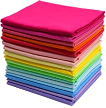 iNee Bright Solid Fat Quarters Quilting Fabric Bundles, 18 x 22 inches,(Bright Solids)