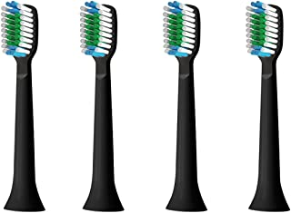 4x Replacement Toothbrush Heads for NEWSTART Electric Toothbrush (Black)