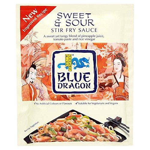 Blue Dragon Sweet & Sour Stir Fry salsa de 120g (paquete de 6 x 120g)