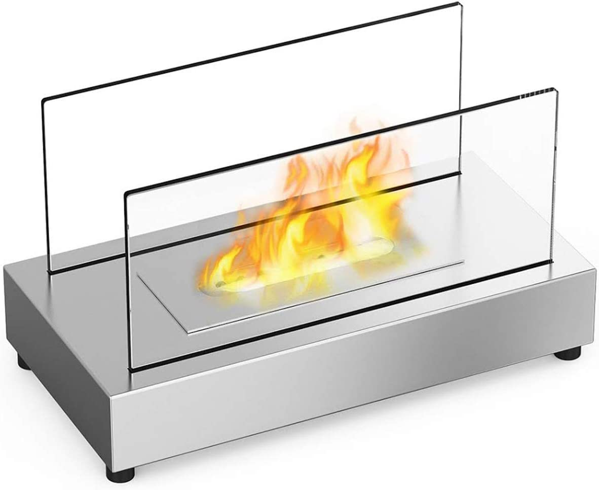 Moda Flame High material Vigo Table Top Steel Manufacturer direct delivery Fireplace Stainless Ethanol