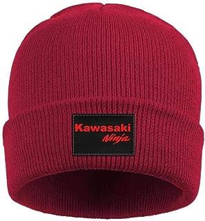 Mens Womens Beanie Hat Soft FineAcrylic Winter Warm Kawasaki-Ninja-Motorcycle-Logo- Beanie Skull Hats