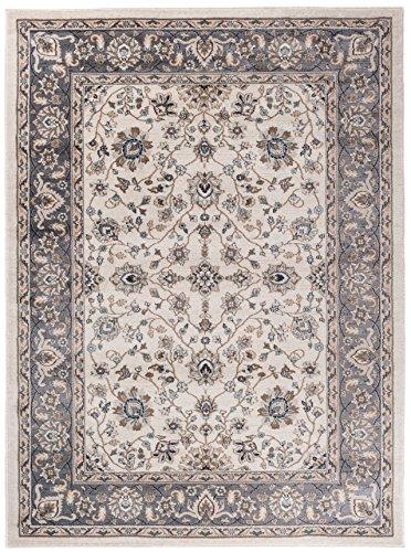 Carpeto Orientteppich Teppich Beige 200 x 300 cm Ornamente Klassisch Muster - Wohnzimmer Schlafzimmer Esszimmer