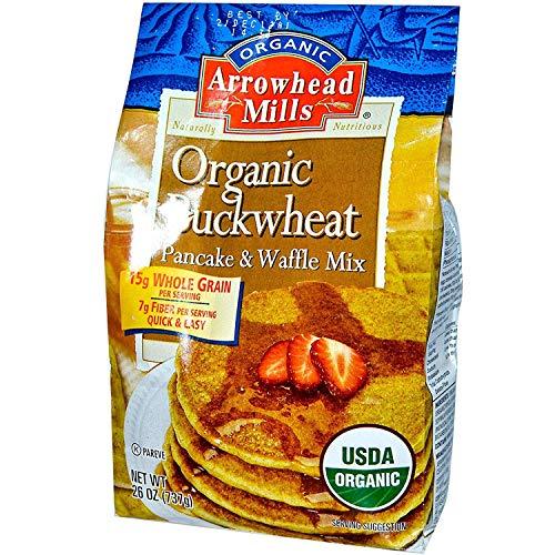 Arrowhead Mills, Organic Buckwheat Pancake and Waffle Mix, 26 oz (737 g)(PACK 1)