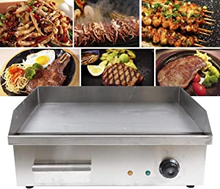 ZHFEISY Electric Griddles - 3000W Non-Stick Commercial/Home Kitchen BBQ Electric Grill Teppanyaki Hot Plate with Drip Tray & Temperature Control for Indoor/Outdoor Working Area:22